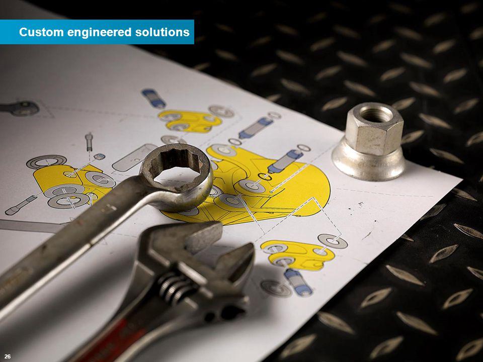 26 Custom engineered solutions