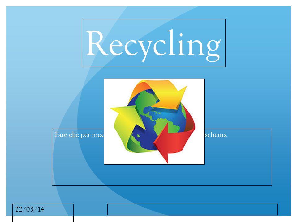 Fare clic per modificare lo stile del sottotitolo dello schema 22/03/14 Recycling