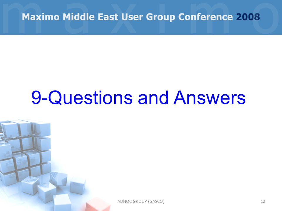 ADNOC GROUP (GASCO)12 9-Questions and Answers