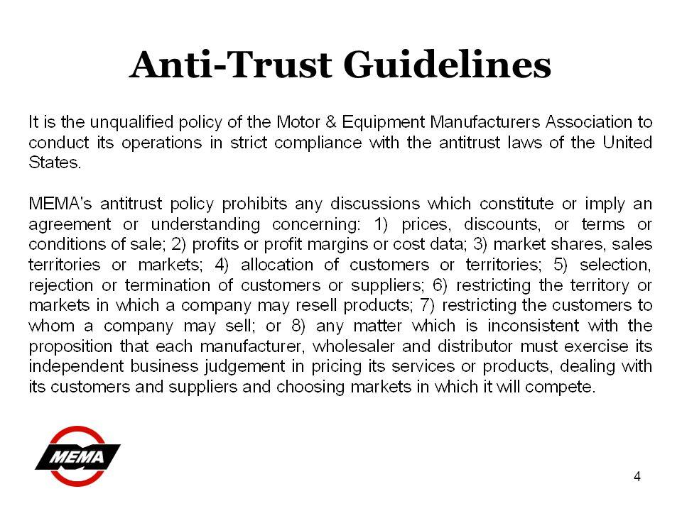 4 Anti-Trust Guidelines