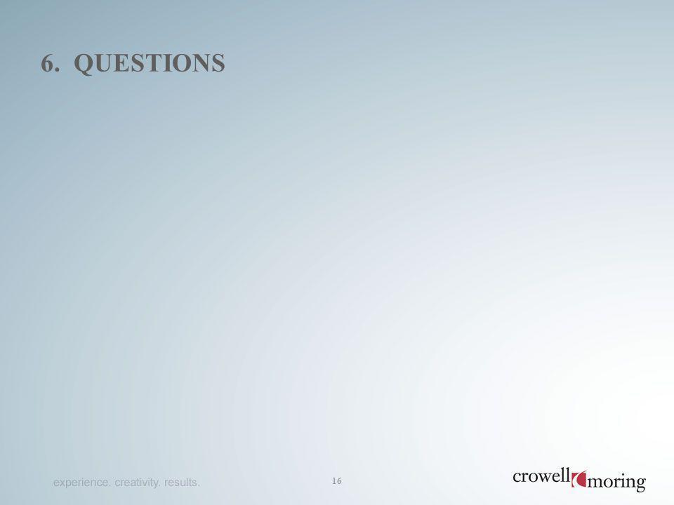 6. QUESTIONS 16