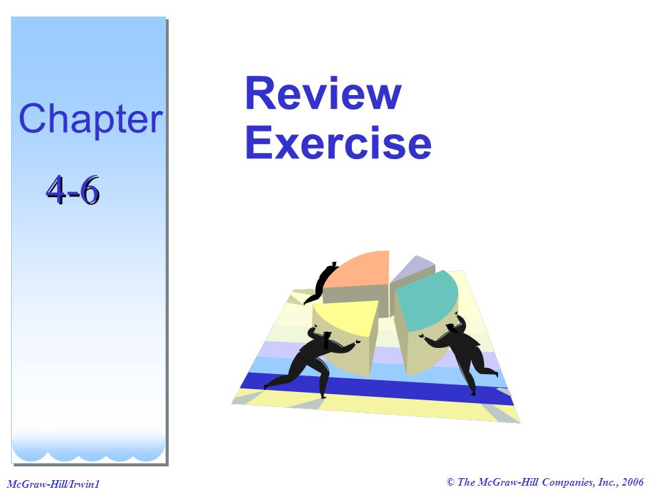 © The McGraw-Hill Companies, Inc., 2006 McGraw-Hill/Irwin1 Review Exercise Chapter 4-6