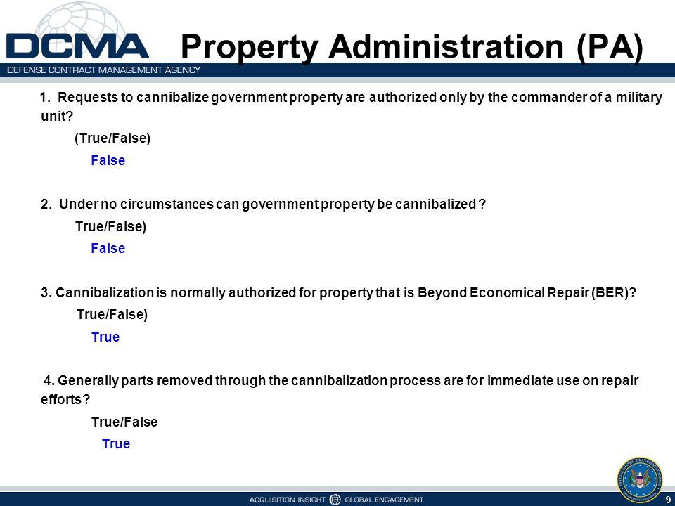 10 6/1/2014 Property Administration (PA) 5.