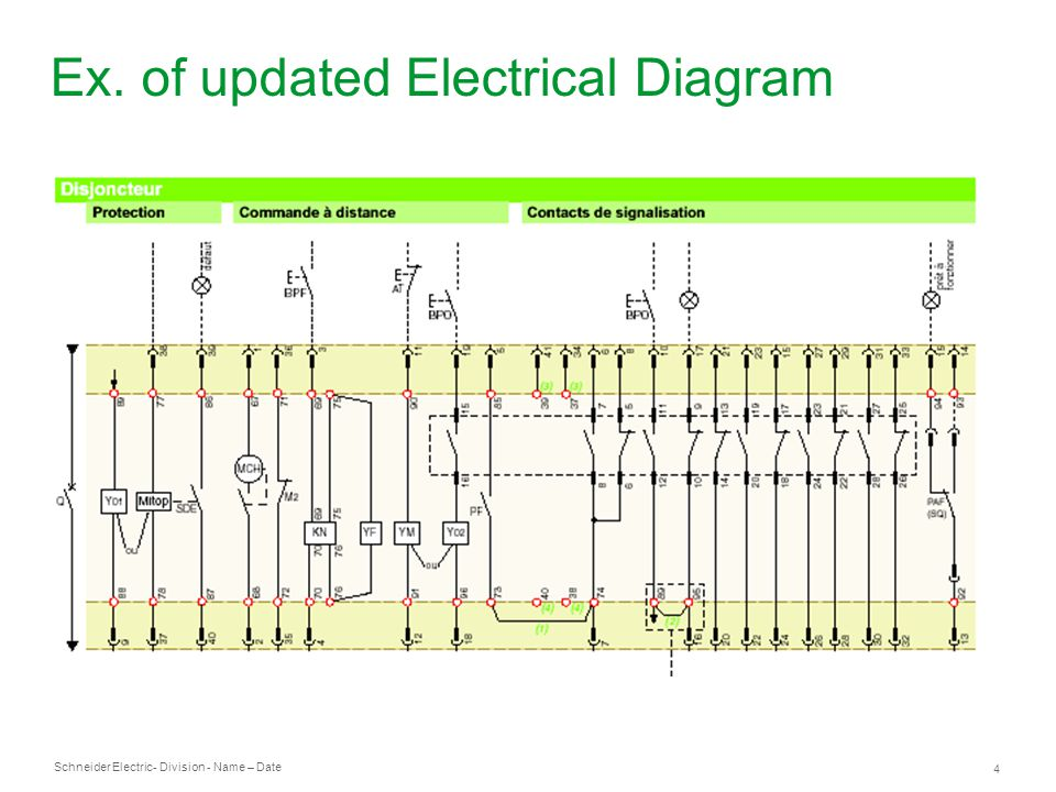 Schneider Electric 4 - Division - Name – Date Ex. of updated Electrical Diagram