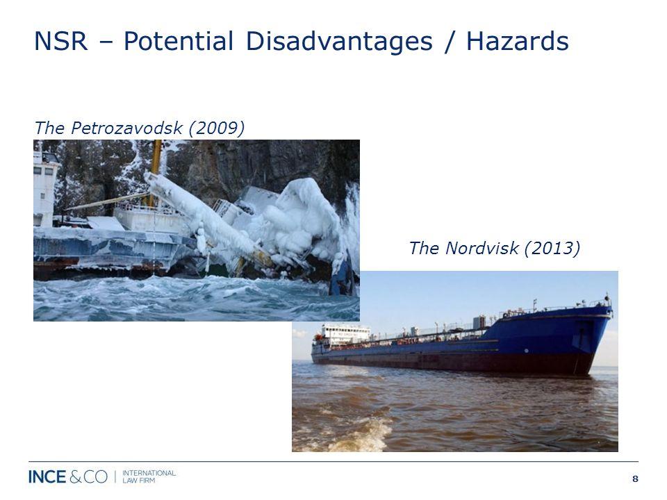 NSR – Potential Disadvantages / Hazards The Petrozavodsk (2009) 8 The Nordvisk (2013)