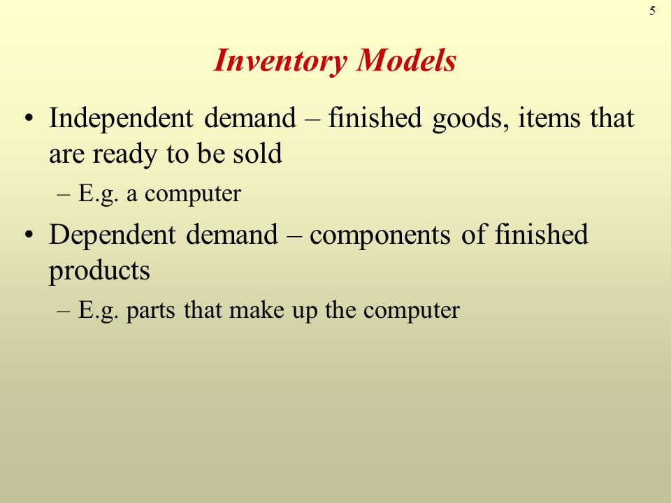 16 Inventory Holding Costs (Approximate Ranges) Category Housing costs (building rent, depreciation, operating cost, taxes, insurance) Material handling costs (equipment, lease or depreciation, power, operating cost) Labor cost from extra handling Investment costs (borrowing costs, taxes, and insurance on inventory) Pilferage, scrap, and obsolescence Overall carrying cost Cost as a % of Inventory Value 6% (3 - 10%) 3% (1 - 3.5%) 3% (3 - 5%) 11% (6 - 24%) 3% (2 - 5%) 26%
