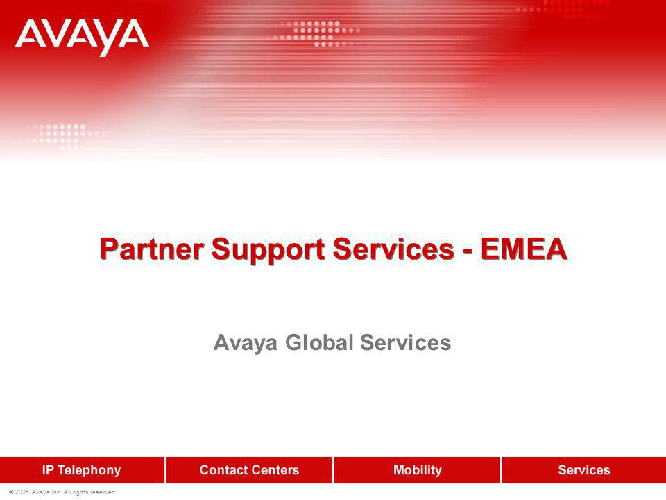 12 © 2005 Avaya Inc.All rights reserved.