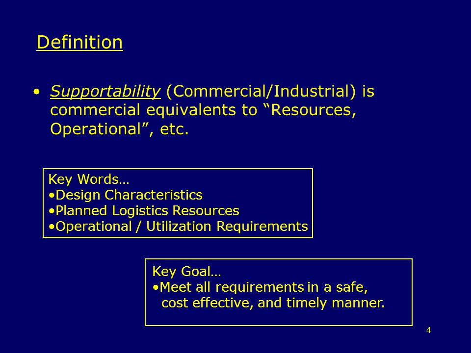 55 Types of Availability Measures Where: –MTBF is the Mean Time Between Failures –MTTRc is the Mean Time To Repair: corrective –MTTRcp is the Mean Time To Repair: corrective/preventative –MLDT is the Mean Logistics Down Time