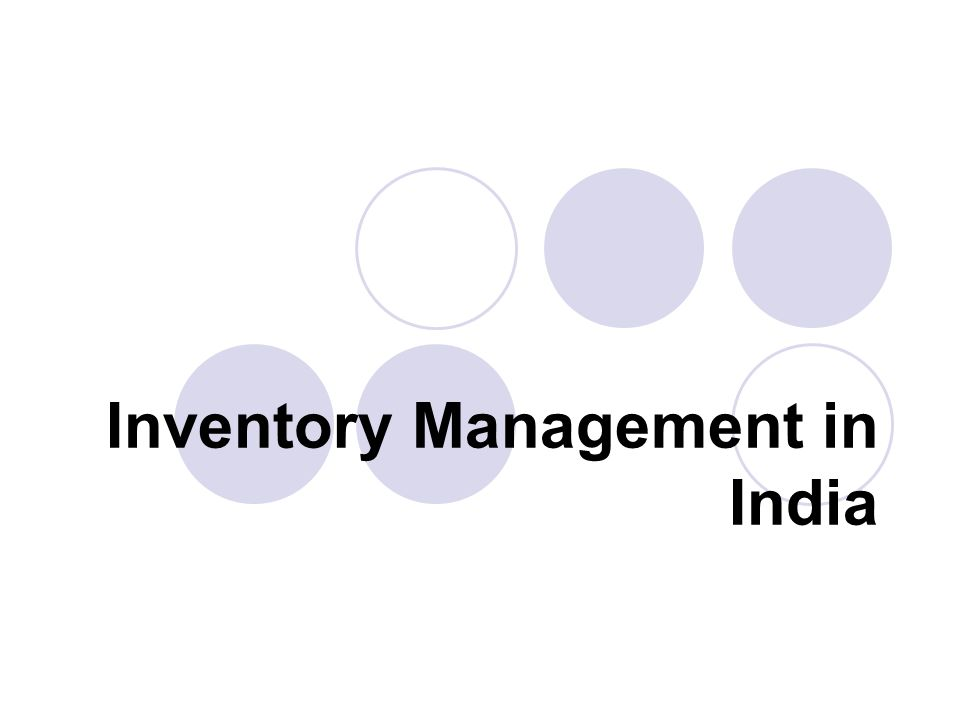 Inventory Management in India