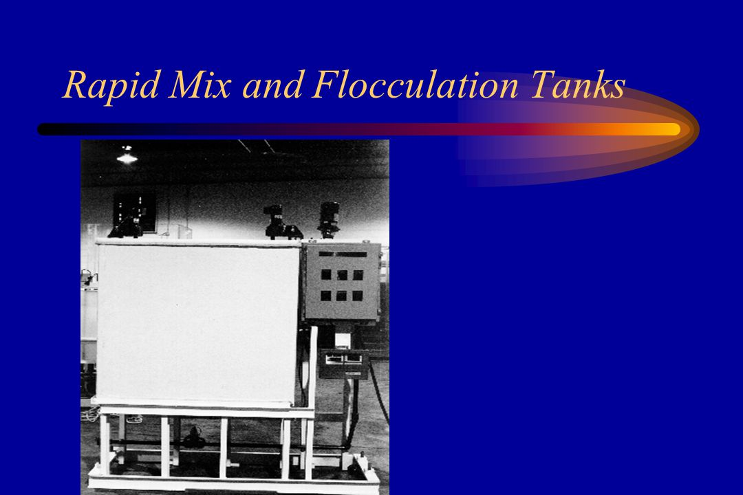 Mixing/Flocculation and Sedimentation Instantaneous mix of coagulants Neutralizes the negative charges on colloids During the gentle mixing of flocculation, allows particles to agglomerate into larger particles Heavier particles are removed by settling