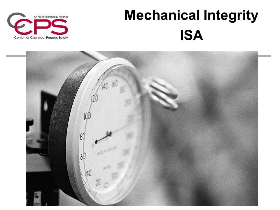 Mechanical Integrity ISA