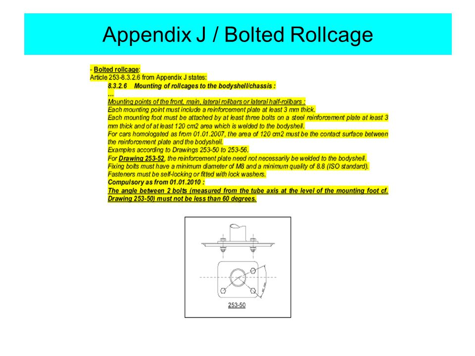 Appendix J / Bolted Rollcage