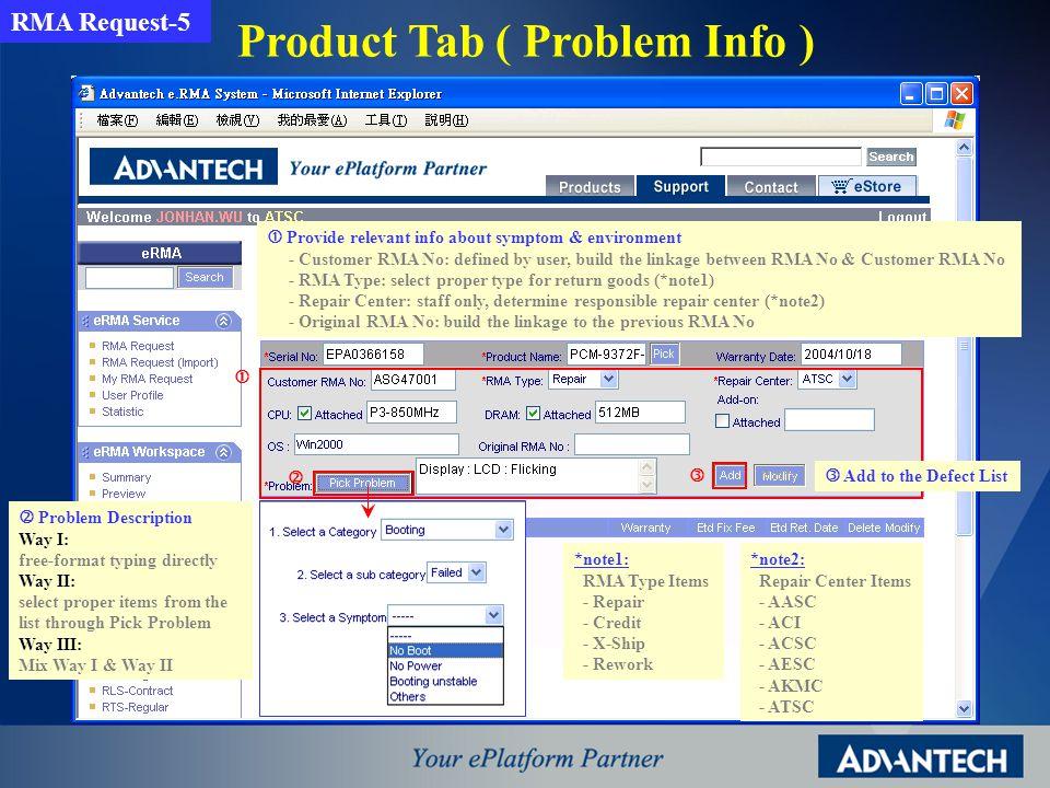Product Tab ( Modify ) Defect List - Etd Fix Fee: ave.