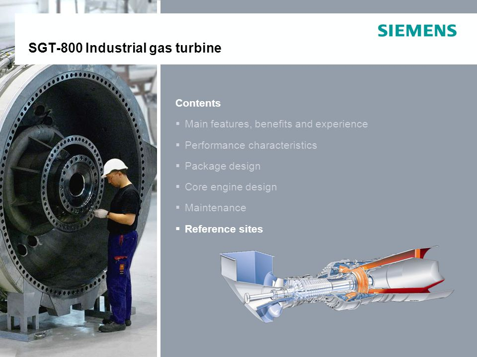 E O IP © Siemens Industrial Turbomachinery AB 2011. All rights reserved. SGT-800Page 39 Contents Main features, benefits and experience Performance ch