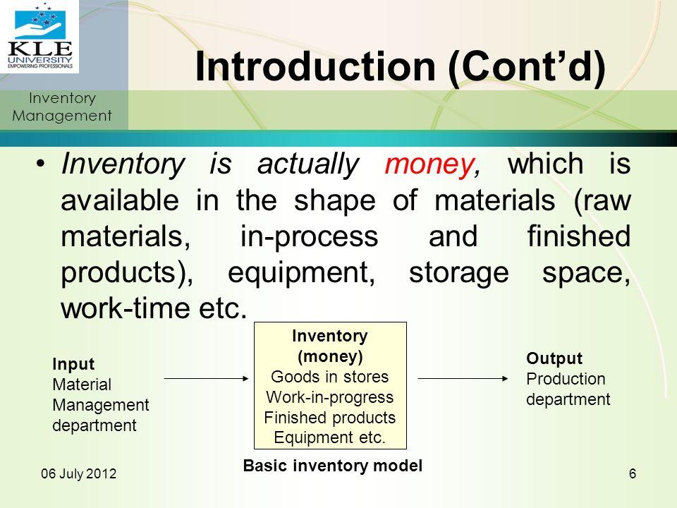 Inventory Management 1)C.V.S.