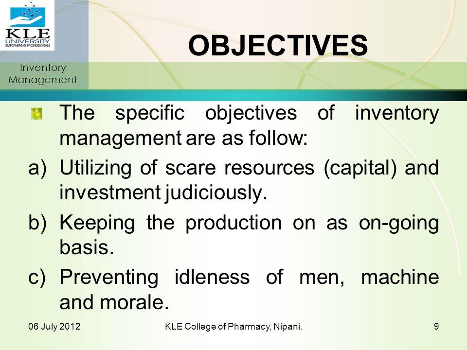 Objectives (Contd) d) Avoiding risk of loss of life (moral & social).