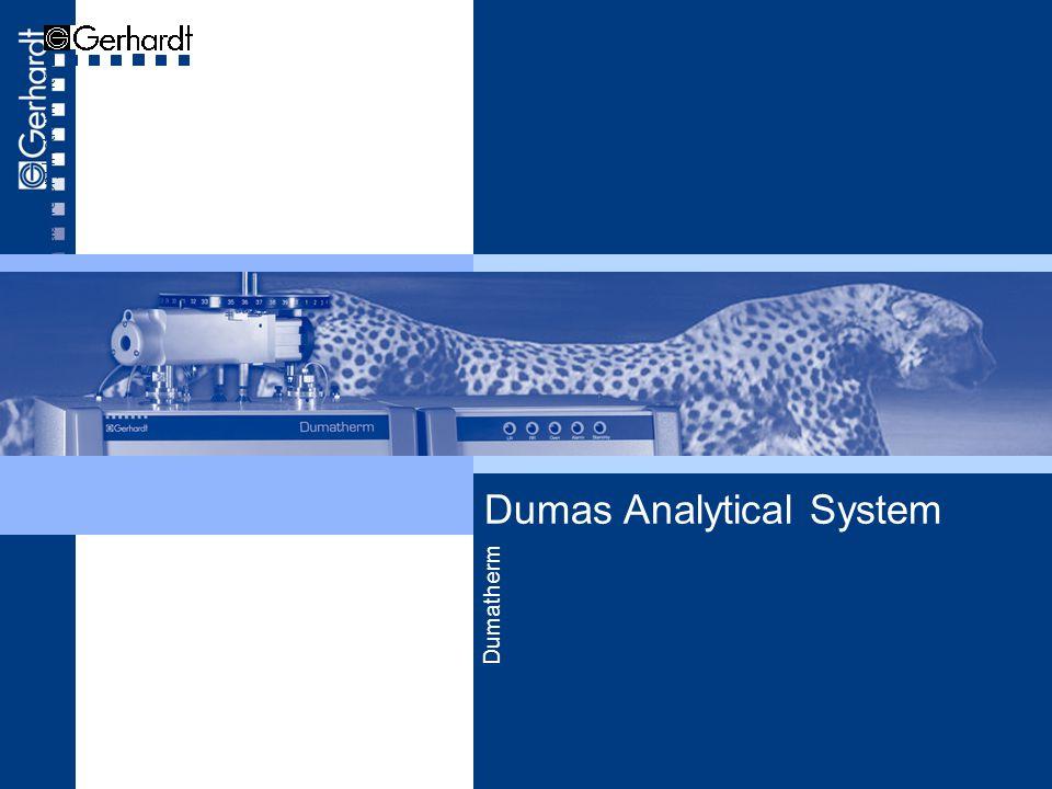 Dumas Analytical System Laboratory Instruments Dumatherm