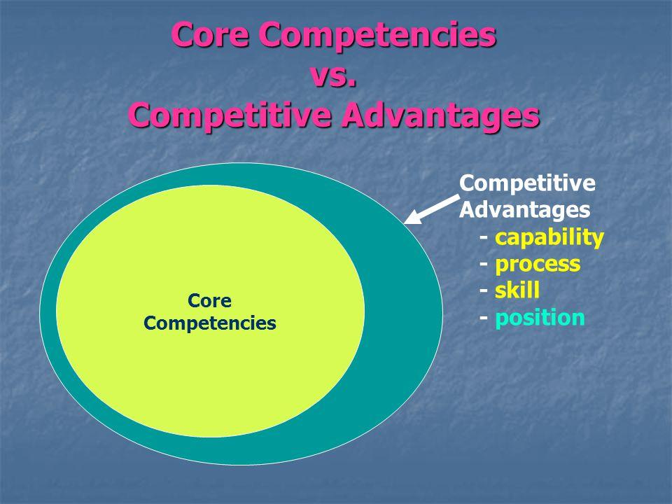 Core Competencies vs.