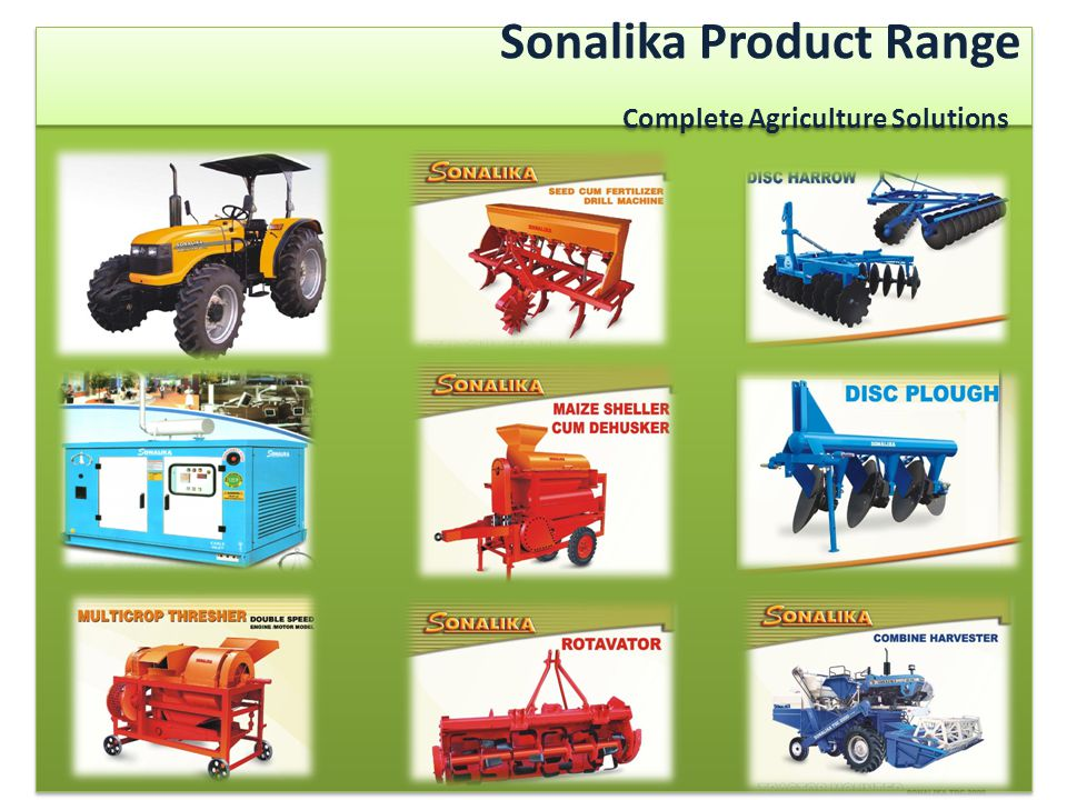 Sonalika Product Range Complete Agriculture Solutions