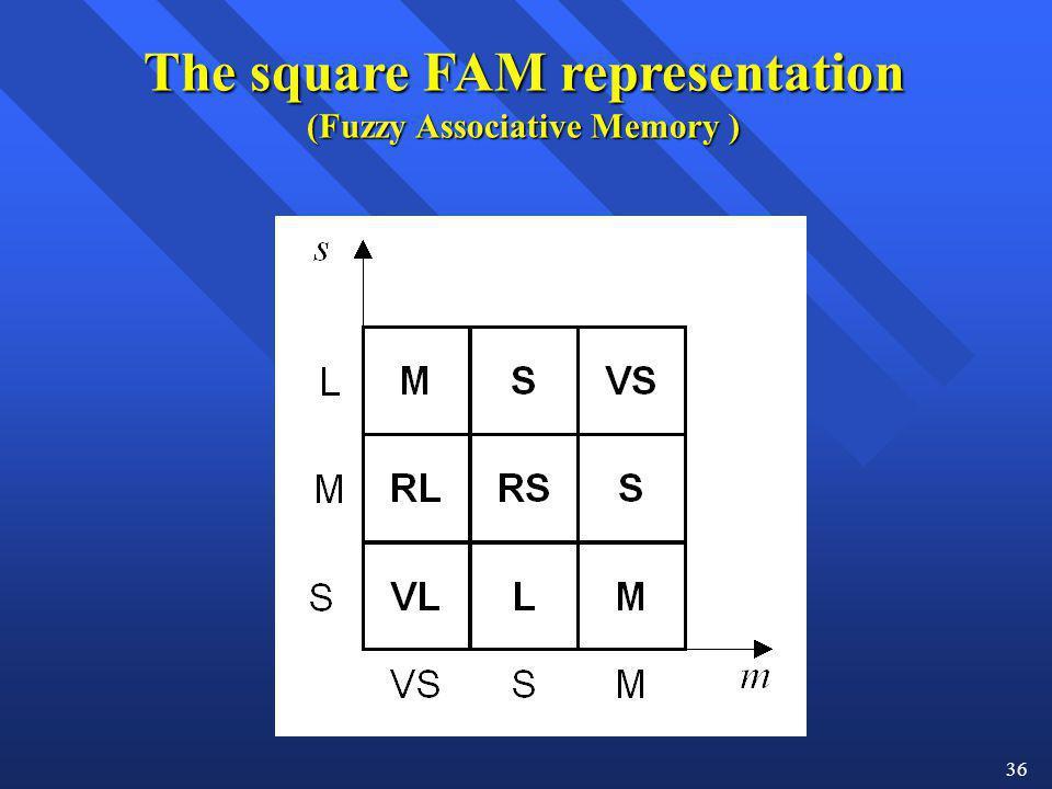 36 The square FAM representation (Fuzzy Associative Memory )