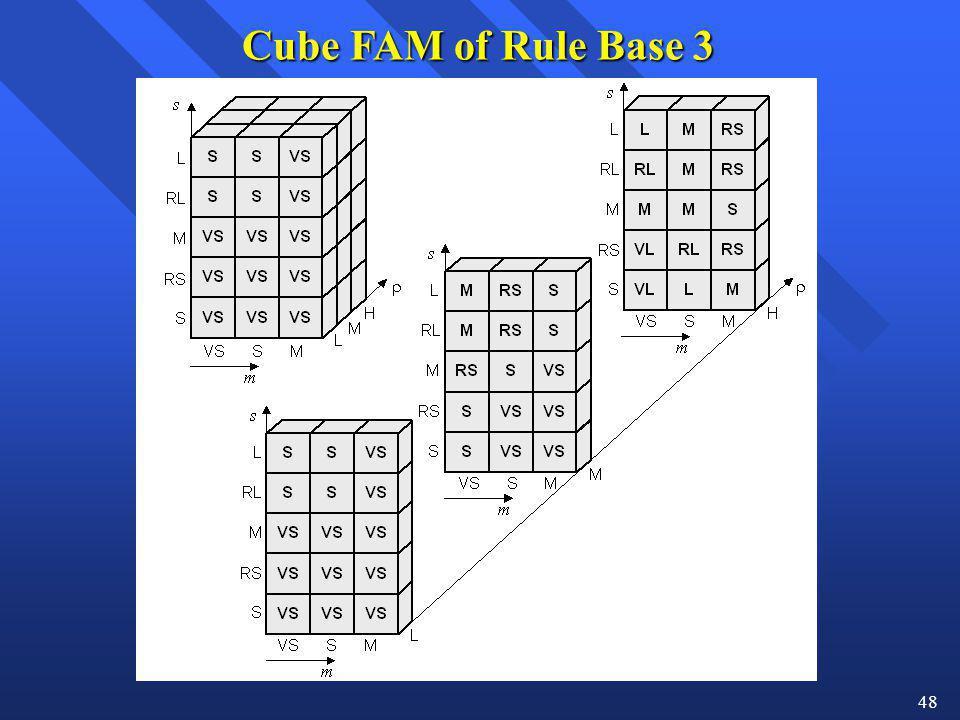 48 Cube FAM of Rule Base 3