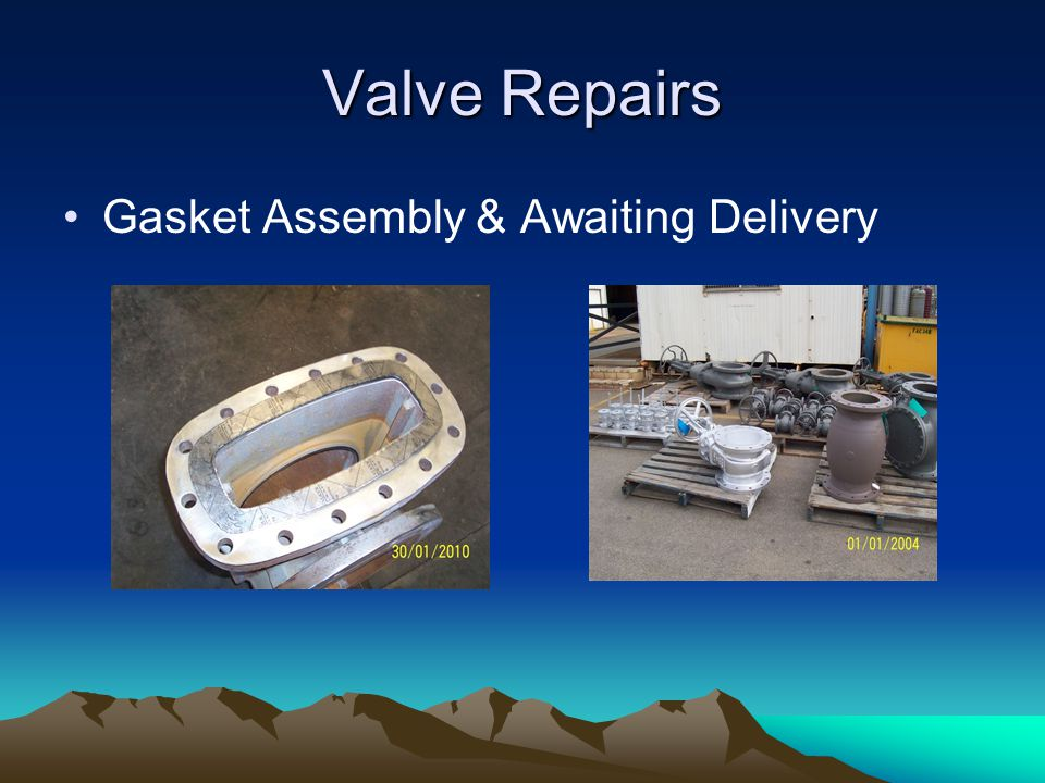 Valve Repairs Gasket Assembly & Awaiting Delivery