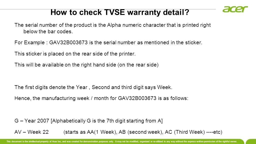 How to check TVSE warranty detail.