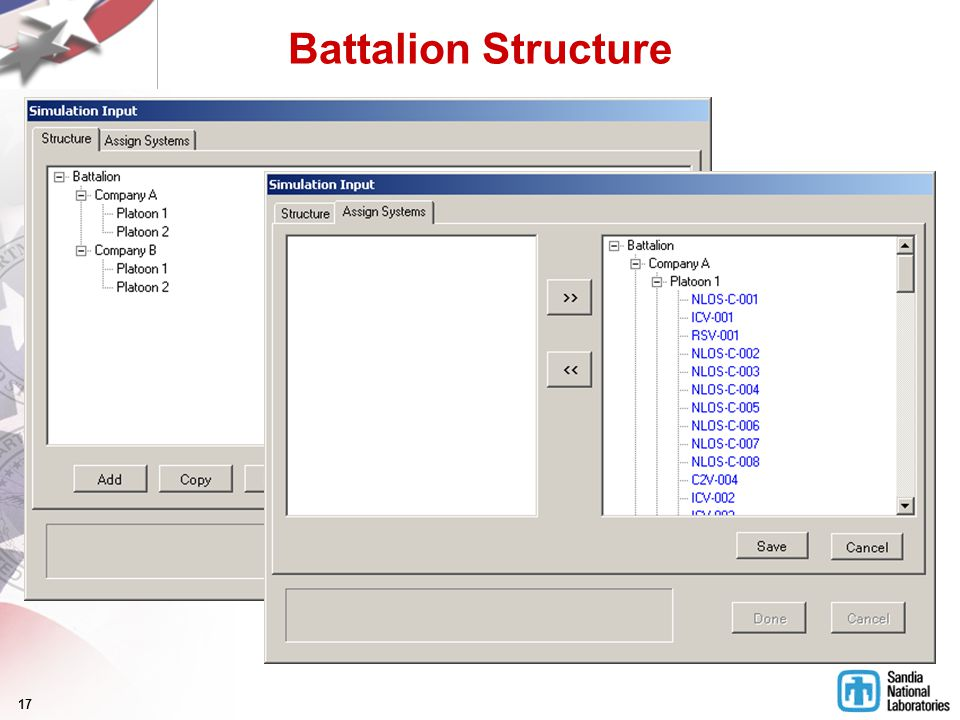 17 Battalion Structure