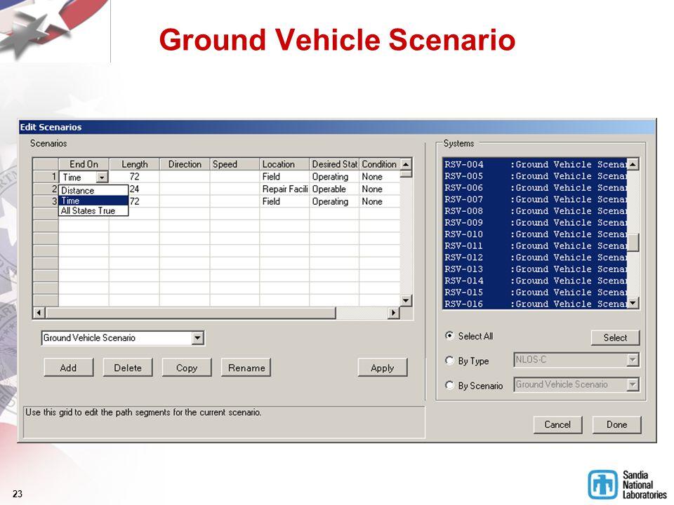 23 Ground Vehicle Scenario