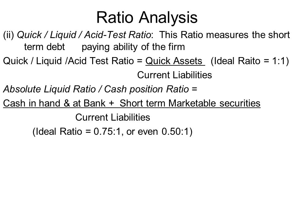 Ratio Analysis (iv) Debtors Turnover Ratio: This Ratio is a measure of quality of Debtors and of the effectiveness of the collection efforts.