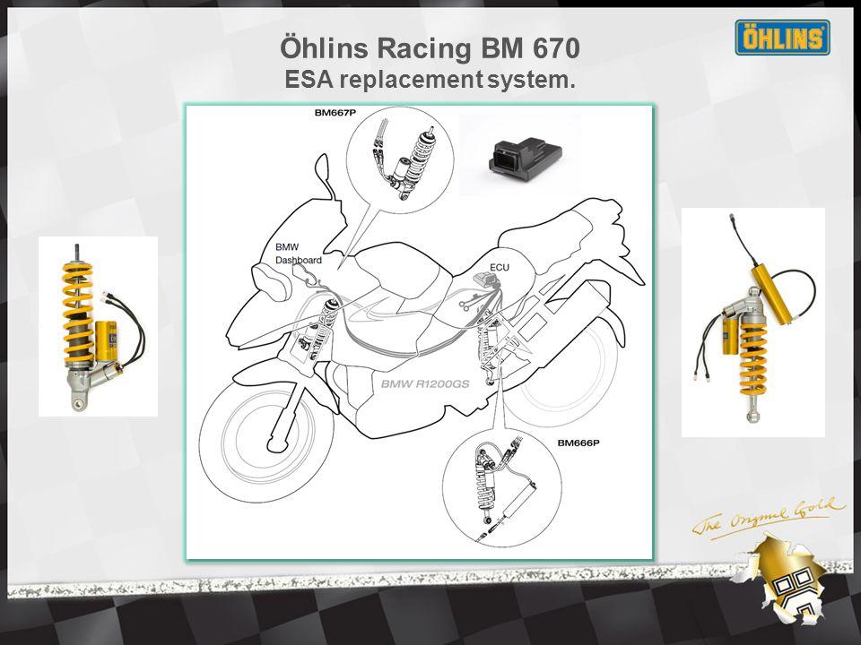 Öhlins Racing BM 670 ESA replacement system kit content.