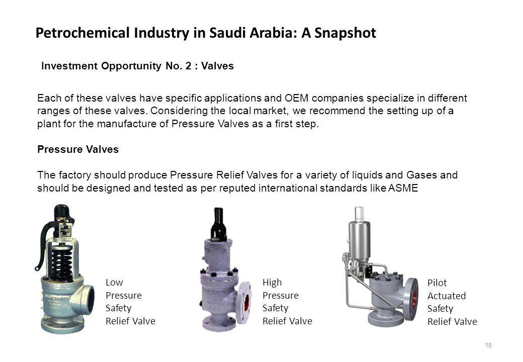 Petrochemical Industry in Saudi Arabia: A Snapshot Each of these valves have specific applications and OEM companies specialize in different ranges of