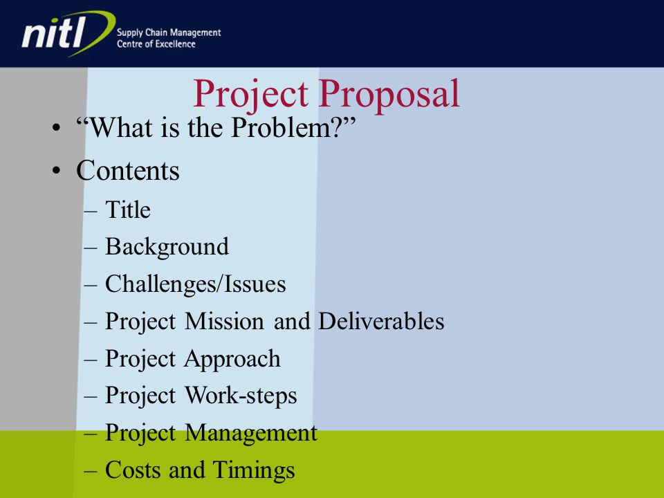 Project Proposal What is the Problem.