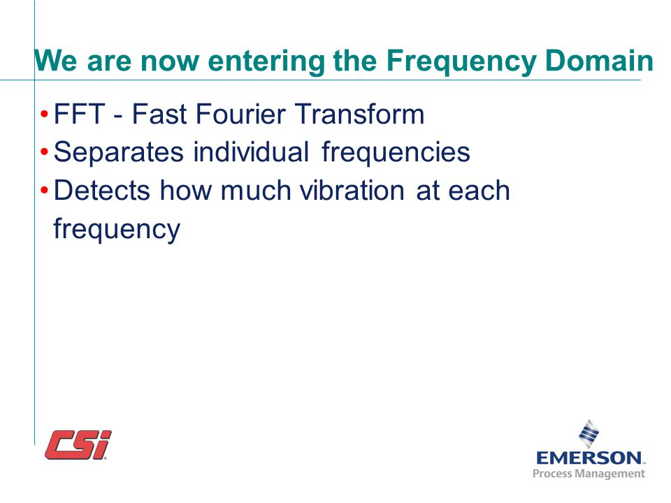 Time Waveform contains all the different frequencies mixed together Complex Time Waveform