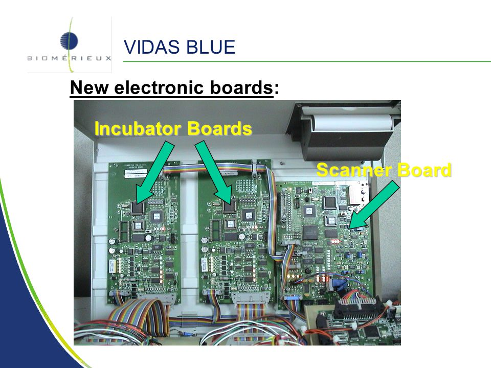 VIDAS BLUE New electronic boards: Scanner Board Incubator Boards