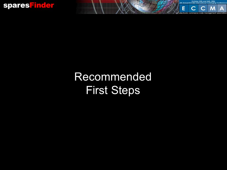 Recommended First Steps