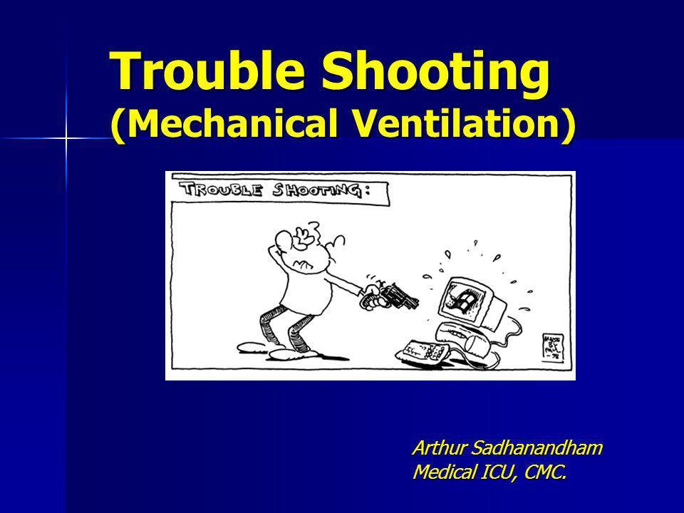 Trouble Shooting (Mechanical Ventilation) Arthur Sadhanandham Medical ICU, CMC.