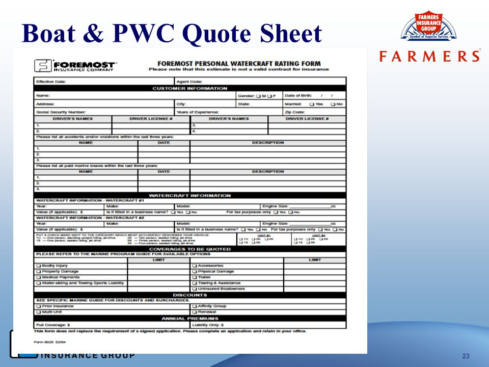 Boat & PWC Quote Sheet 23