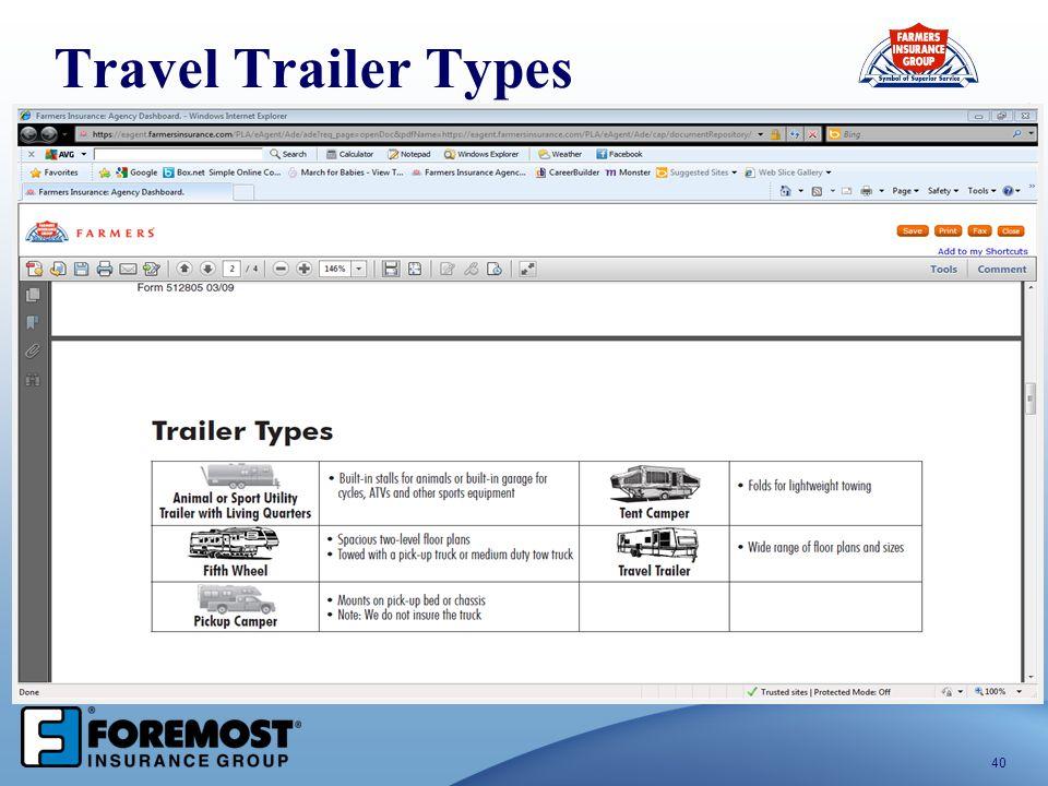 40 Travel Trailer Types