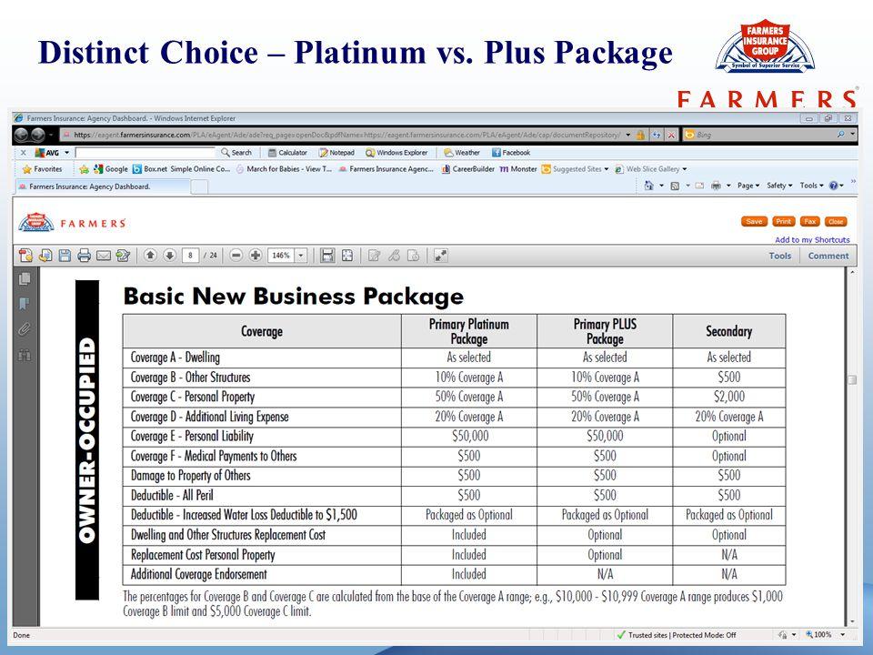 5 Distinct Choice – Platinum vs. Plus Package