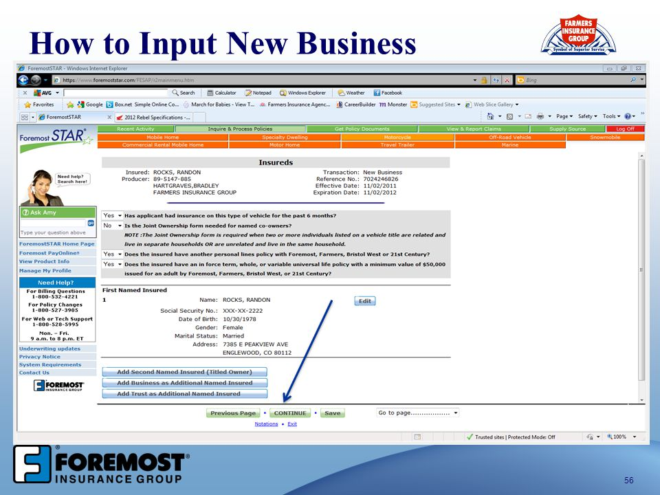 56 How to Input New Business