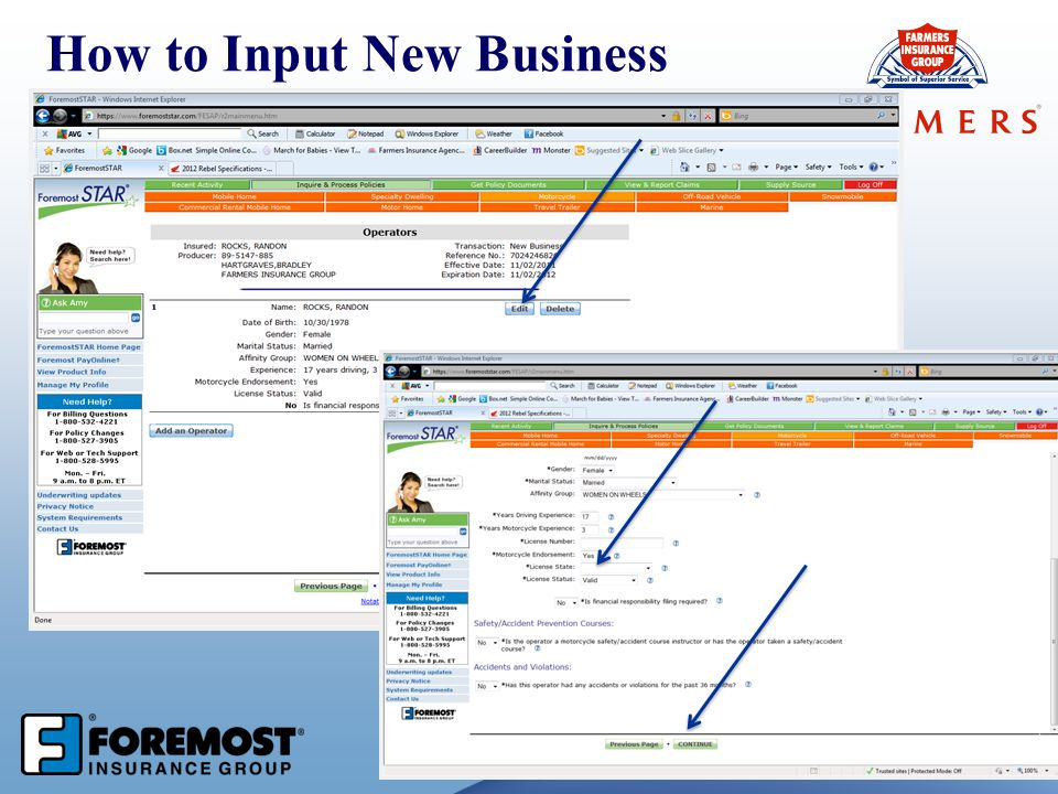 57 How to Input New Business