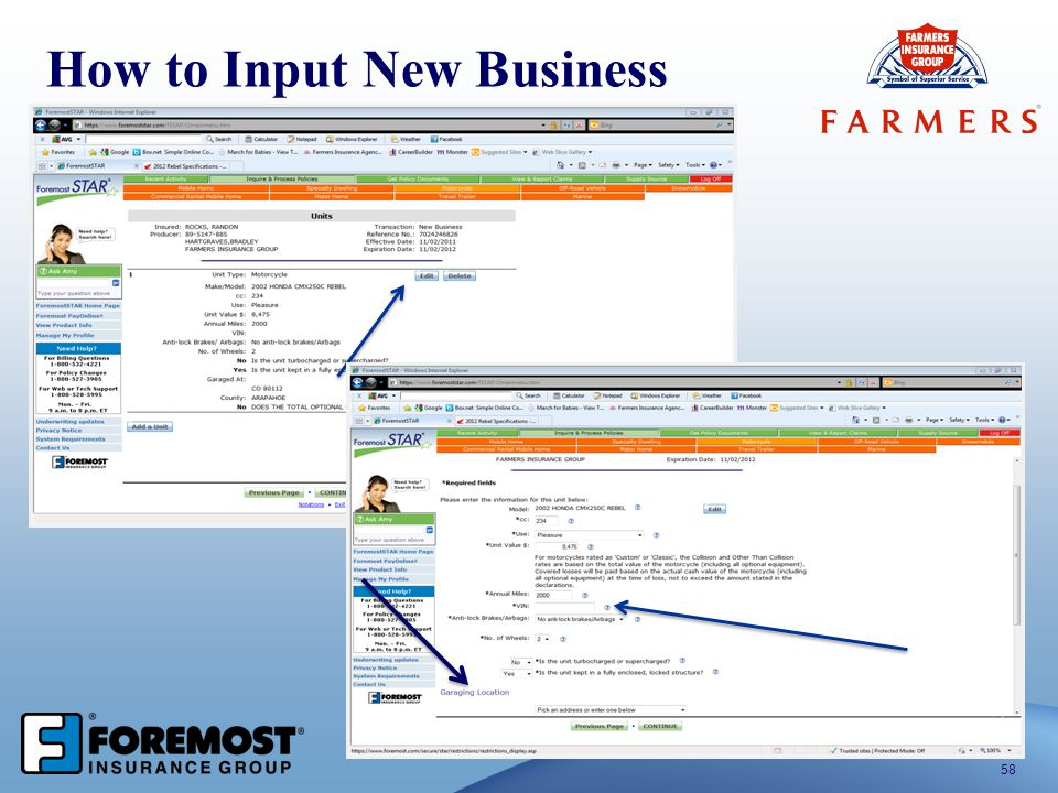 58 How to Input New Business