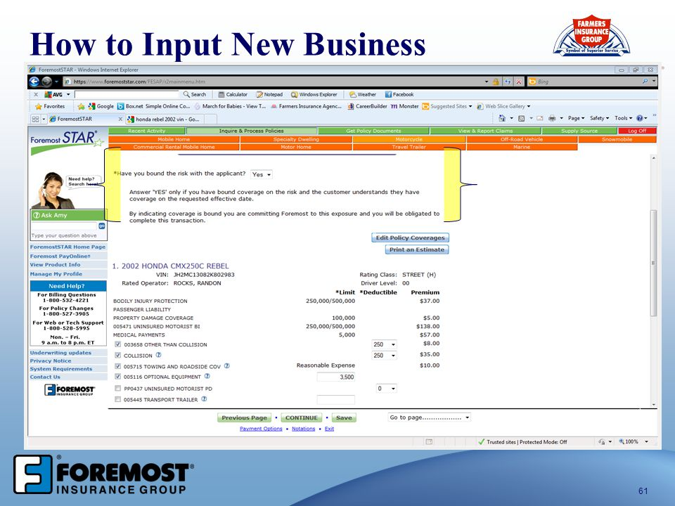 61 How to Input New Business