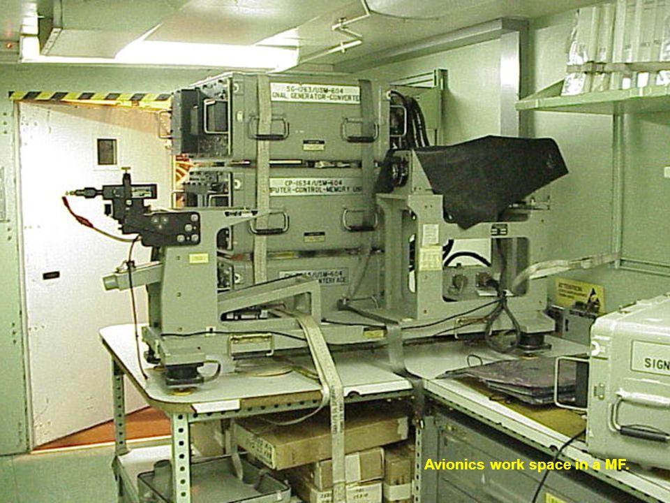 Avionics work space in a MF.