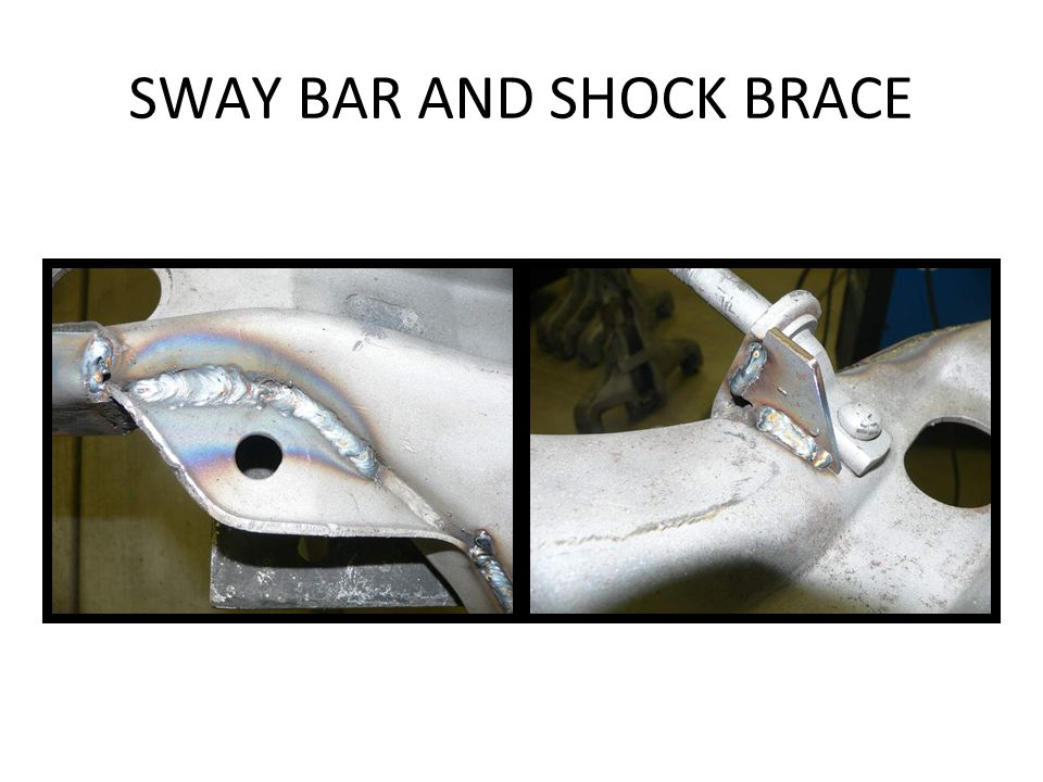 SWAY BAR AND SHOCK BRACE