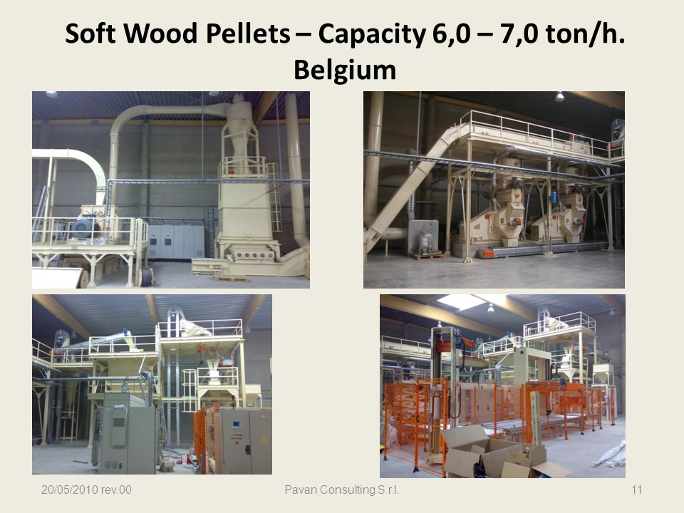 Soft Wood Pellets – Capacity 6,0 – 7,0 ton/h. Belgium 20/05/2010 rev.00Pavan Consulting S.r.l.11