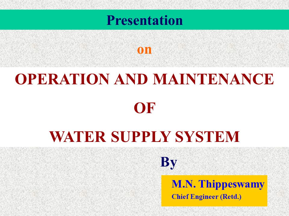 The Specific Objectives of the Subsystem are To operate the facilities and carryout the process necessary to deliver drinking water and sanitation services with the greatest efficiency, safety and economy; To ensure the quality of the water (potability) and of the services delivered (quantity, pressure, continuity); To protect public health and the environment by monitoring the quality and quantity of sewage effluent discharges; To monitor the water supply and sanitation installations in general and their components in particular, in terms of how well they function and how well they meet requirements, so that their effectiveness can be evaluated.