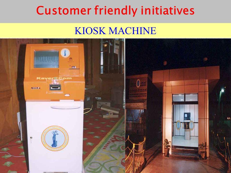 KIOSK MACHINE Customer friendly initiatives