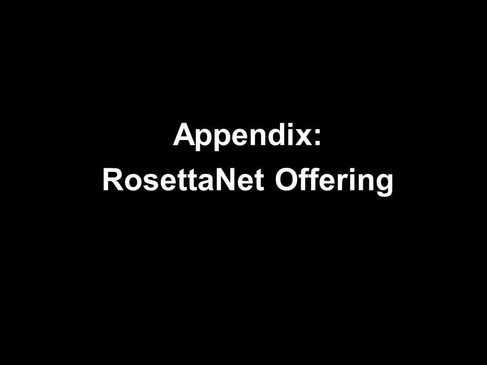 Appendix: RosettaNet Offering